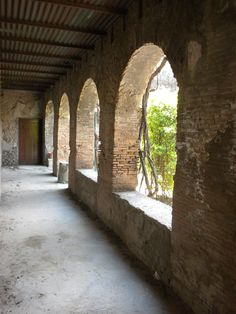 Corridor, Pompeii ~ to walk down this corridor in the time of Pompeii hearing the sounds and breathing the fragrances of the city