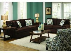 Pomona 3 Pc Living Room W/ Accent Chair  Badcock Furniture  Does Have  Matching