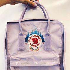Diy Embroidery Designs, Cute Embroidery, Learn Embroidery, Embroidery Patterns, Mochila Kanken, Kanken Backpack, Pastel Hoodie, Cute Backpacks, Disney Crafts