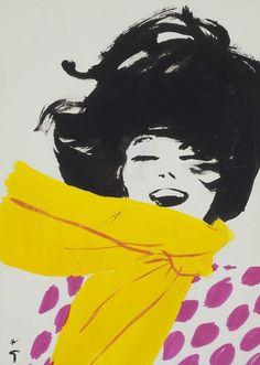 René Gruau (1909-2004) Fashion Study  René Gruau: Master of Fashion Illustration