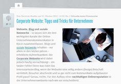 Tipps und Tricks für eine erfolgreiche und attraktive Webseite. Quelle: http://karrierebibel.de/corporate-website-tipps-und-tricks-fuer-unternehmen/