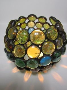 Tiffany Stained Glass Lantern straw by ArtesanaPL on Etsy, $40.00