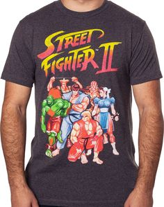 Street Fighter II Roster T-Shirt: Street Fighter Mens T-Shirt