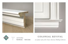WindsorONE Colonial Revival Stool Buildup, (WOCS006 (apron), WOWS001 (window stool)), part of the Classic American Molding Collection