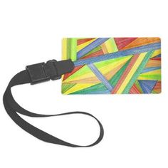 Abstract Design Luggage Tag