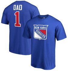 New York Rangers Fanatics Branded Big & Tall Number 1 Dad T-Shirt - Blue