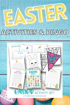 These Easter themed activities for kids are an easy and fun way to engage kids in spring filled games and challenges. With color pages, word searches, BINGO, and so much more kids will enjoy learning and creating. Check out these FREE PRINTABLES for your next free play activity time. Easter Bingo, Easter Games, Easter Peeps, Free Printable Bingo Cards, Free Printables, Preschool Activities, Easter Activities For Kids, Holiday Activities, Fun New Games
