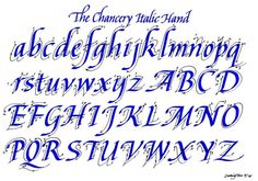 ITALIC STYLE - how to build up the letters (images courtesy of Ludwig Tan - The Grammar Terrorist)