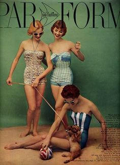 Vintage Inspired Swimwear… That Makes a Splash! For our poolside shoot this month I started collecting vintage swimwear images that inspired me. Retro Mode, Vintage Mode, Retro Vintage, Vintage Style, Vintage Bathing Suits, Vintage Swimsuits, Vintage Outfits, Vintage Fashion, Moda Retro