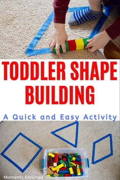 TODDLER SHAPE BUILDING ACTIVITY