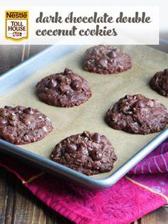 Dark Chocolate Double Coconut Cookies
