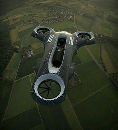 Le Manoosh : Photo on Wookmark Drones, Drone Quadcopter, Design Transport, Le Manoosh, Flying Car, Flying Ship, Futuristic Cars, Futuristic Vehicles, Futuristic Technology