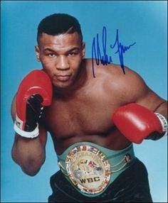 A young Iron Mike Tyson