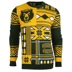 Baylor Patches Ugly Crew Neck Sweater from UglyTeams