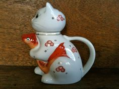 Vintage Cat with Fish Tea Pot / English Shop by EnglishShop, $59.00