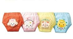 Losorn (Tm) Pack of 4 X Baby Toddler Girls Cute 4 Layers Potty Training Pants Reusable Happy Baby, Happy Kids, Toddler Outfits, Toddler Girls, Baby Diaper Rash, Potty Training Pants, Storing Baby Clothes, Diaper Covers, Newborn Care