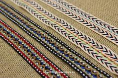 Tapacosturas de algodón de tipo étnico