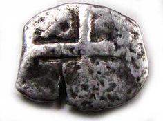 PERU LIMA  PHILIP VI  COB 1/2  REAL 1621-1746  AC 678 ancient coins , Spanish coins, silver reale coin, ancient Spanish coin