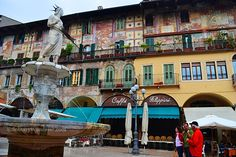 Piazza del'Erbe, Verona, Italy