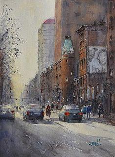 Pee Wee's Louisville by Judy Mudd Watercolor ~ 14 x 10.5