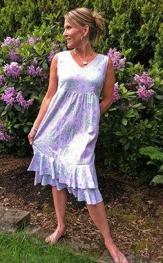 Cotton Summer Dress | ICanToo Clothing Made in USA  via BuyDirectUSA.com #MadeinAmerica