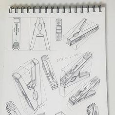 11 Clothes Peg Pencil Drawing Ideas - New Pencil Sketch Drawing, Basic Drawing, Technical Drawing, Pencil Art Drawings, Drawing Ideas, Copic Drawings, Art Drawings Sketches, Orthographic Drawing, Academic Drawing