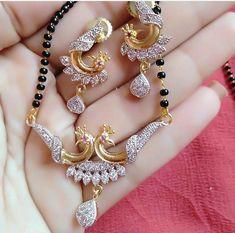 Indian Jewellery Design, Jewelry Design, Designer Jewelry, Gold Mangalsutra Designs, Diamond Mangalsutra, India Jewelry, Temple Jewellery, Beaded Jewelry, Gold Jewelry