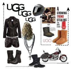 """""""The New Classics With UGG: Contest Entry"""" by forgottenmelody ❤ liked on Polyvore featuring UGG Australia, Harley-Davidson, UGG, IRO, Anine Bing and ugg"""