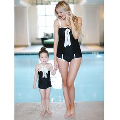Sometimes copying isn't such a bad thing! Albion's little girls' Who Moi? Swimsuit is a perfect imitation of the bestselling Nautical Bow Tankini, adorable whether you're expecting or not!