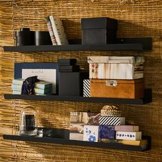 IKEA - MALMBÄCK, Display shelf, dark gray, The picture ledge makes it easy to vary your favorite motifs as often as you like. Screws and any other fasteners you might need to attach your solution securely to the wall (e. wall anchors) are not included. Display Shelves Ikea, Corner Wall Shelves, Hanging Shelves, Home Depot Exterior Paint, Dark Brown Walls, Dark Grey, Regal Display, Wall Ledge, Door Draught Stopper