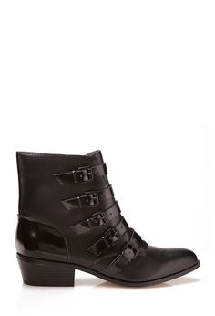 Must-Have Buckle Booties | FOREVER21 Strap on a pair of boots! #Buckles #FauxLeather #Booties