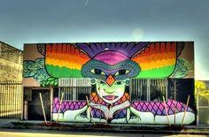Wall art,Wynwood art district (Miami Florida)