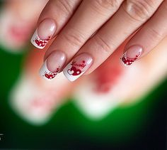 Nails Arts For Ladies. Valentine's Day Nail Designs, Creative Nail Designs, Winter Nail Designs, Creative Nails, Nails Design, Valentine Nail Art, Holiday Nail Art, Valentines, Valentine Hearts