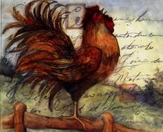 Le Rooster I Art Print by Susan Winget At Urbanloftart.com