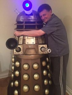 The evil one and a Dalek (Christmas present from his wife)
