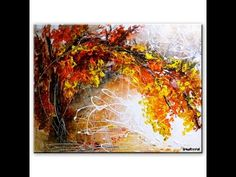 Amazing landscape abstract painting by Peter Dranitsin - Shared Memories - acrylics on canvas - YouTube