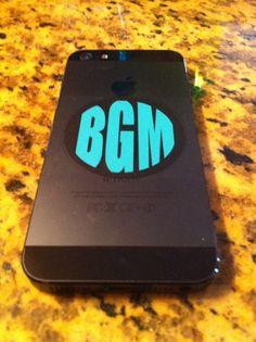 Monogram Phone Decal by BMGdesigns1 on Etsy, $4.00