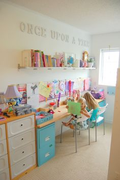 little girls room - blue and white northstory