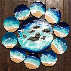 Amazing Resin Art done by artists with Counter Culture DIY products -- all available on our site! Gallery Page - Counter Culture DIY Epoxy Resin Art, Diy Resin Art, Diy Resin Crafts, Acrylic Resin, Acrylic Art, Diy And Crafts, Victorian Dollhouse, Resin Art Supplies, Resin Furniture