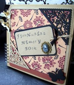 Memory Book for Fionnuala - completed in rust, black and Kraft - who knew a black butterfly could be so striking?