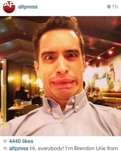 Brendon urie. At his finest.