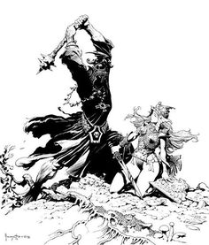 Wow! I found so many amazing Frazetta drawings to show that I may need to stretch this out to a few more posts. Fr ank Frazetta's drawings...