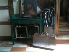 Antique Large Leather Travel Bag Suitcase / Hand by EnglishShop, £250.00