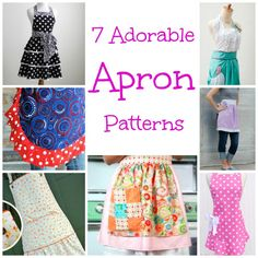 7 adorable aprons   http://sewing.craftgossip.com/7-adorable-apron-patterns/2014/12/28/