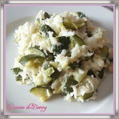 Courgettes et riz au boursin (Cookeo)