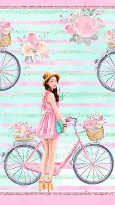 ✿¸¸.•*¨*✿¸¸.•*¨*✿¸¸.•*¨*✿¸¸.•*¨* ✿ Cute Girl Wallpaper, Trendy Wallpaper, Cute Wallpaper Backgrounds, Pink Wallpaper, Nature Wallpaper, Cute Wallpapers, Wallpaper Desktop, Wallpaper Quotes, Disney Wallpaper