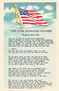 Star Spangled Banner - Francis Scott Key