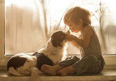 Agnieszka Gulczyńska captures heartwarming photos of her son and their three adopted dogs
