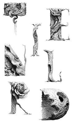 Tendril Typeface - yes, but they could be adapted to quilling as well! - Anybody up to it?