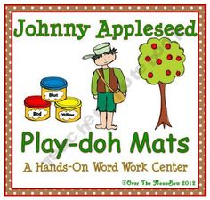Your students will love these Johnny Appleseed themed playdoh mats that will help them learn vocabulary and develop their fine motor skills!
